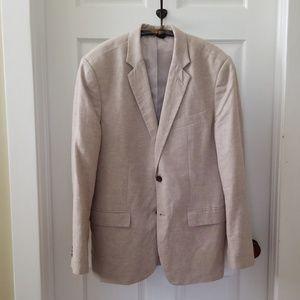 Men's linen blend blazer